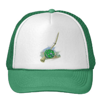 Whimsical Antique Fishing Reel Hat