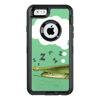 Whimsical Apple Dream Playful Green Lizard Custom OtterBox Defender iPhone Case
