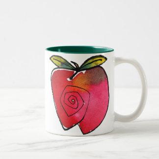 Whimsical Apple Mug