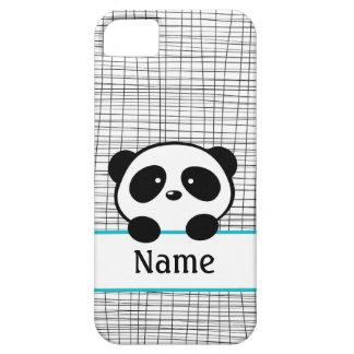 Whimsical Aqua Personalized Panda iPhone 5 Case