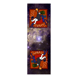 Whimsical Aries Bookmark Card Double-Sided Mini Business Cards (Pack Of 20)