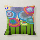 Whimsical Artsy Flowers Decorative Pillow