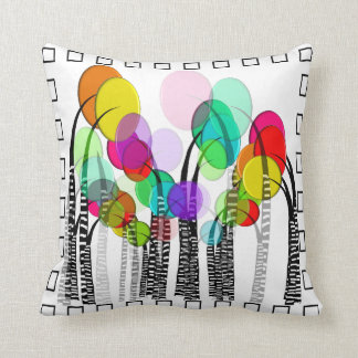 Whimsical Artsy Flowers Decorative Pillow III
