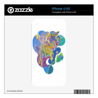 Whimsical Artwork Decal For iPhone 4