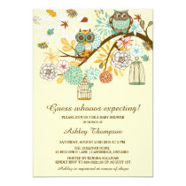Owl baby shower invitations whimsical autumn owls baby shower invitation filmwisefo Choice Image