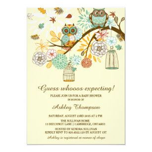Owl baby shower invitations zazzle whimsical autumn owls baby shower invitation filmwisefo