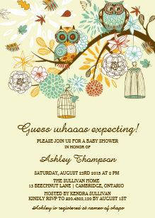 Owl baby shower invitations zazzle whimsical autumn owls baby shower invitation filmwisefo