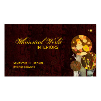 Whimsical Autumn Trees Interior Design Business Business Cards