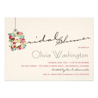 Whimsical B Spring Flowers Bridal Shower Invite Invite