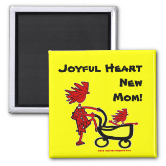 Whimsical Baby 2 Inch Square Magnet