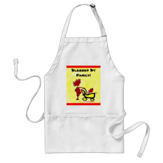 Whimsical Baby Adult Apron