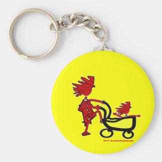 Whimsical Baby Basic Round Button Keychain