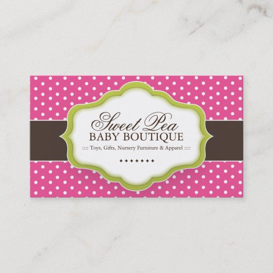 whimsical baby boutique business cards - Boutique Business Cards