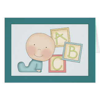 Whimsical Baby Boy Congratulations Card