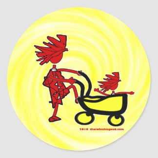 Whimsical Baby Classic Round Sticker