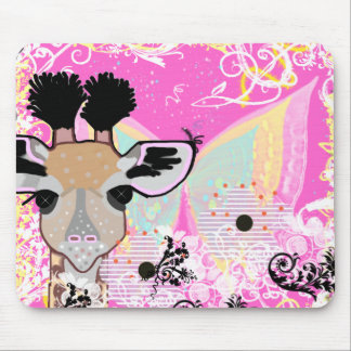 Whimsical Baby Giraffe Mouse Pad