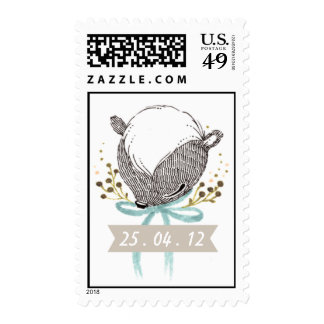 Whimsical Baby Skunk Stamps
