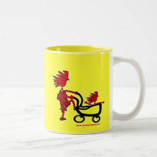 Whimsical Baby Two-Tone Coffee Mug