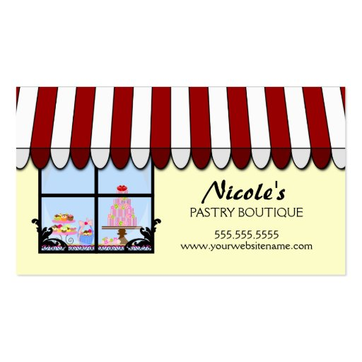 Whimsical Bakery Boutique / Shop Business Cards