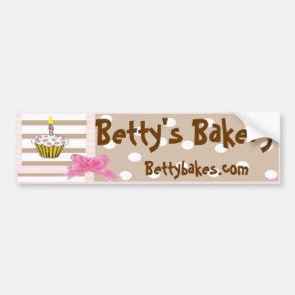 Whimsical Bakery Bumpersticker Car Bumper Sticker