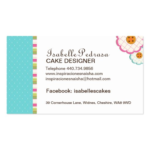 Whimsical Bakery Business Card (back side)
