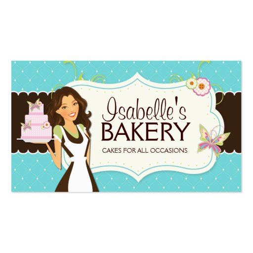 Whimsical Bakery Business Card (front side)