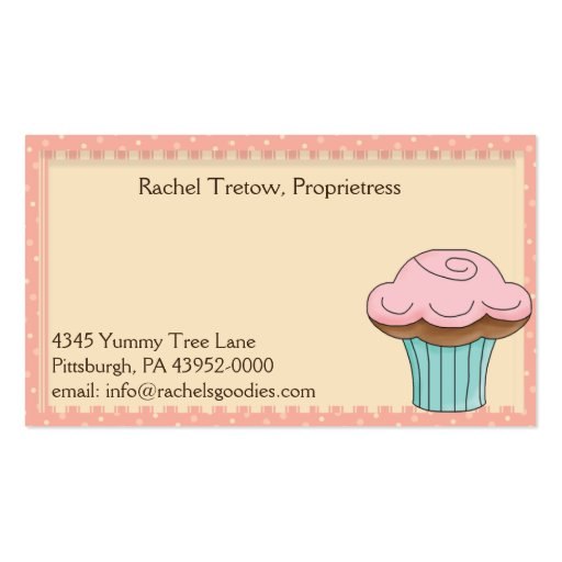 Whimsical Bakery Business - Profile Card Business Card (back side)