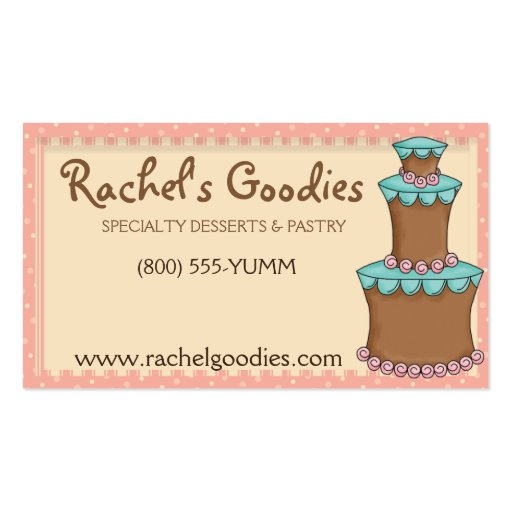 Whimsical Bakery Business - Profile Card Business Card (front side)
