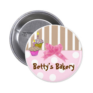 Whimsical Bakery Button Pin