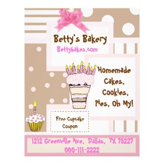 Whimsical Bakery Flyer flyer