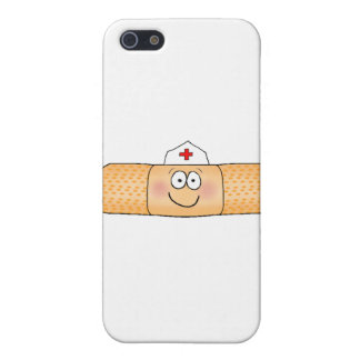 Whimsical Band Aid Bandage with Nurse Hat Cute Covers For iPhone 5