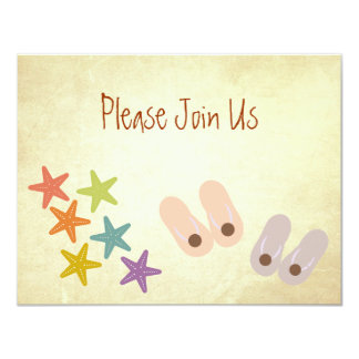 Whimsical Beach Party 4.25x5.5 Paper Invitation Card