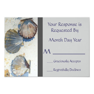 Whimsical Beach Shells reception Reply Card