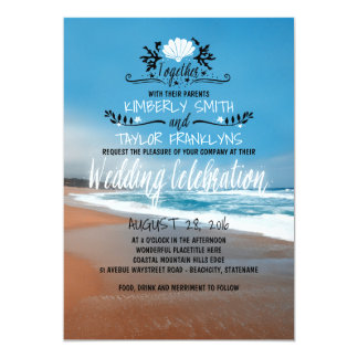 Whimsical Beach Wedding Invitation