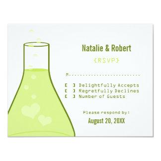 Whimsical Beaker Response Card, Green Card