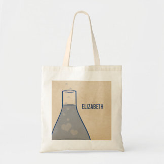 Whimsical Beaker Tote Bag, Blue