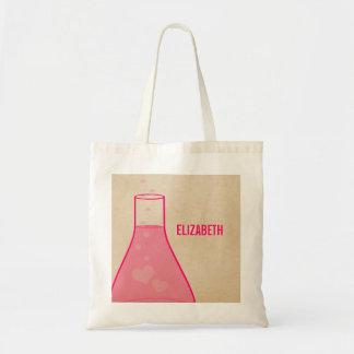 Whimsical Beaker Tote Bag, Pink Budget Tote Bag