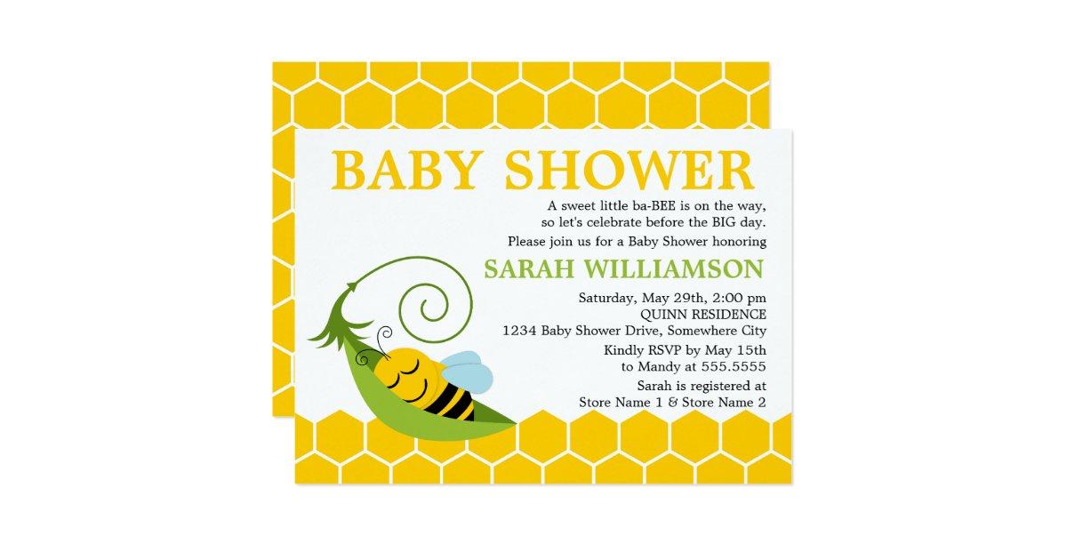 whimsical bee baby shower invitation zazzle