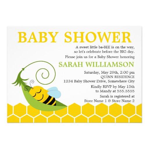 whimsical bee baby shower invitation 5 x 7 invitation card zazzle