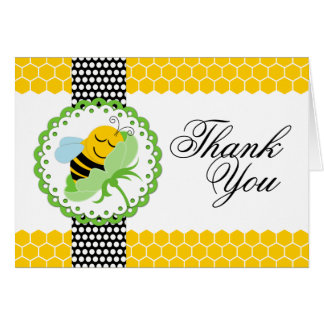 Whimsical Bee Baby Shower Thank You Card