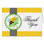 Whimsical Bee Baby Shower Thank You Cards