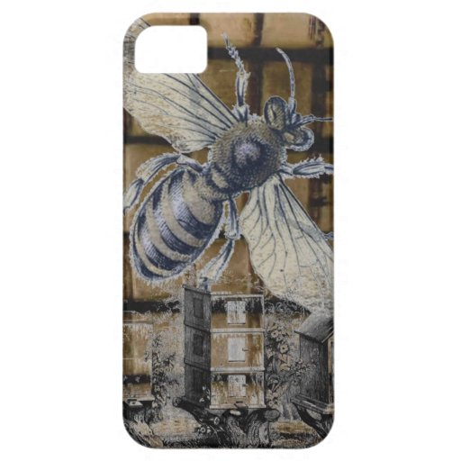 Whimsical Beehive Vintage Honey Bee Beekeeping Art iPhone 5 Cover