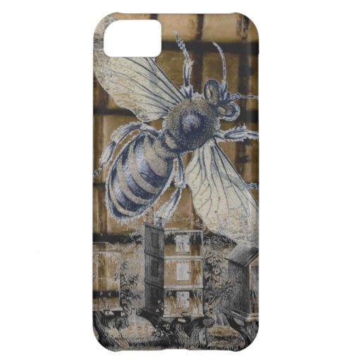 Whimsical Beehive Vintage Honey Bee Beekeeping Art Case For iPhone 5C