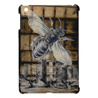Whimsical Beehive Vintage Honey Bee Beekeeping Art iPad Mini Cover