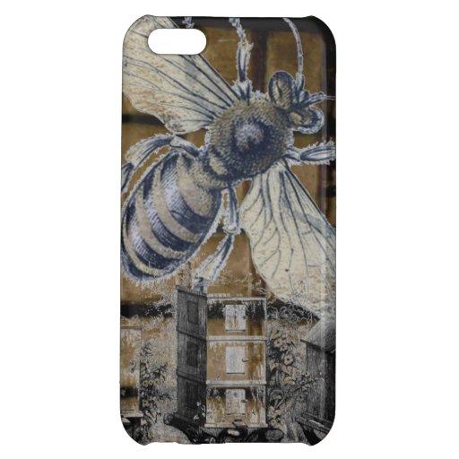Whimsical Beehive Vintage Honey Bee Beekeeping Art iPhone 5C Covers