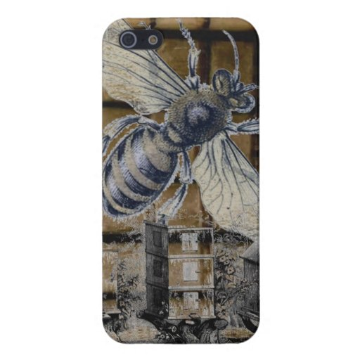 Whimsical Beehive Vintage Honey Bee Beekeeping Art Covers For iPhone 5