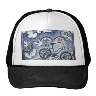 Whimsical Bicycle Painting Products Trucker Hat