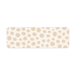 Whimsical big brown beige polka dot dots pattern label