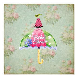 Whimsical Bird Bridal Shower invitation