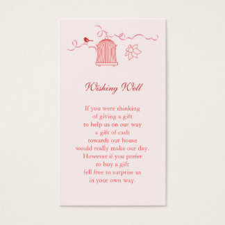 Whimsical Bird Cage Wedding Wishing Well Business Card